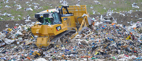 Lagging on landfill
