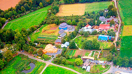 Aerial view of the Camphill Community in Ballytobin where Landia's pump is installed at the AS plant.