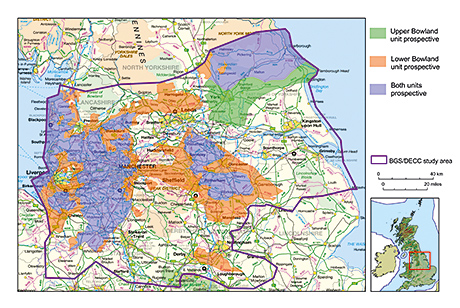 The area of central England believed to hold 1,300 trllion cubic feet of shale gas.