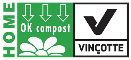 Packaging that achieves accreditation under schemes such as Vincotte's OK Compost  and European Bio-plastics Seedling label has to carry the appropriate logo
