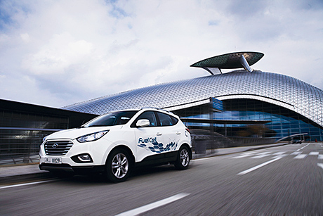 UK air quality improvements will likely depend on low-emission vehicle technologies like Hyundai's hydrogen-powered car