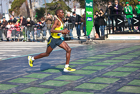 22-year old Kenyan Peter Some crossed the finishing line first
