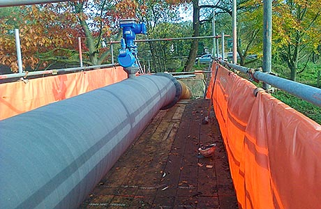 Protection for bridge pipework