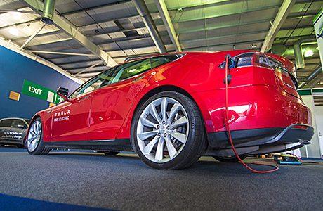 Premium EVs get rare UK airing