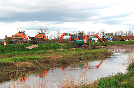 Protecting water quality while dredging the Somerset levels