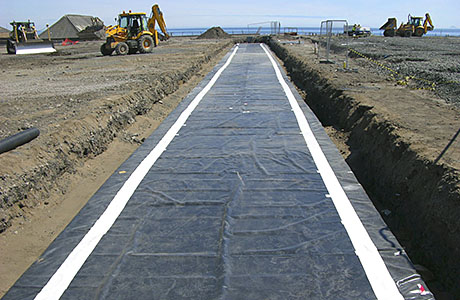 Containment solution from green geomembrane
