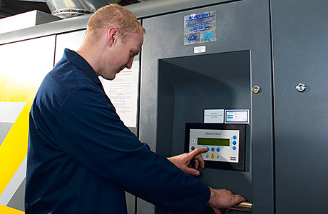 Compressor waste heat warms local college