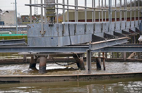 Continuous monitoring to moderate sludge density