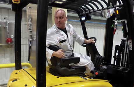 Forklift fuel cell first