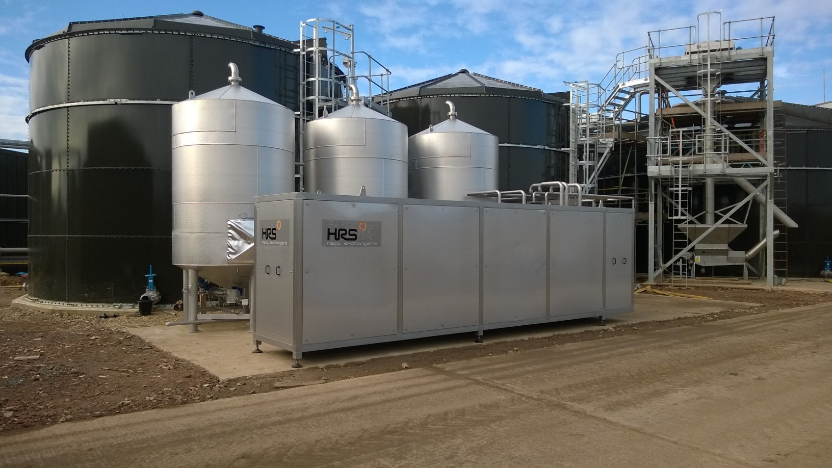 3-tank batch sludge pasteuriser system