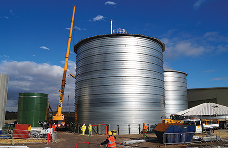 Wakefield waste-to-energy plant opts for spiral tanks for AD and liquids