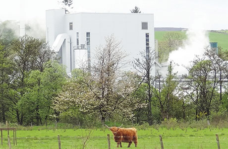 The CoRDe biomass CHP plant in Rothes generates a net power output of 7.2MW with the by-products from local distillers like Chivas Brothers.