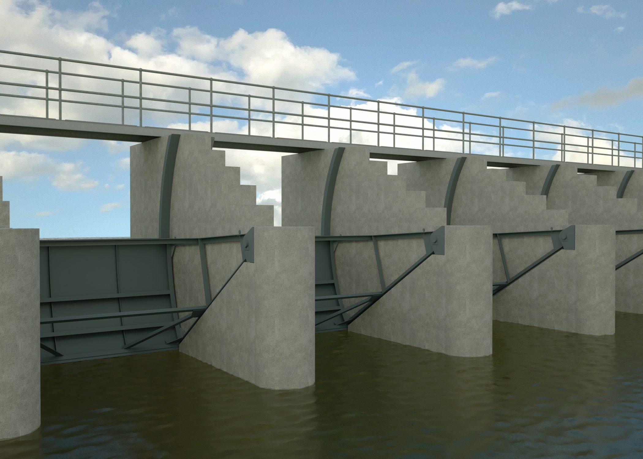 Weir gates