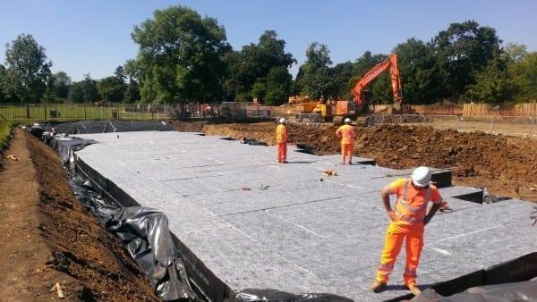 £4.28 million flood defences go underground, overground in London parks