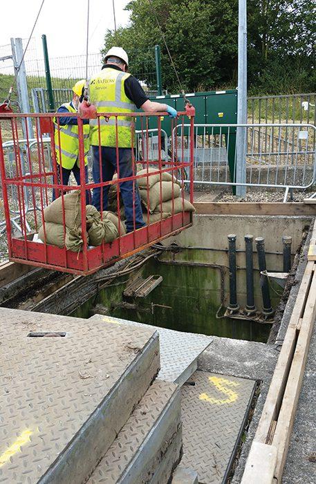 AxFlow 293 Access Into xWet Well