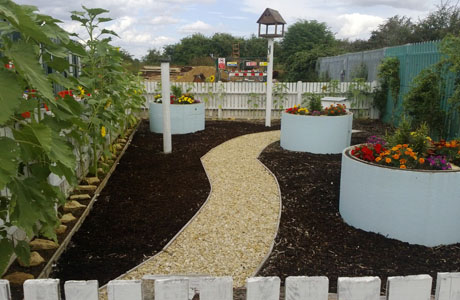 Award for eco garden made from waste products
