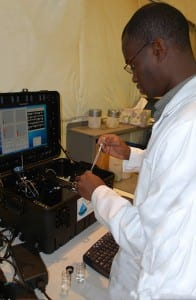 Analysis of grit samples in Hydro's US laboratories