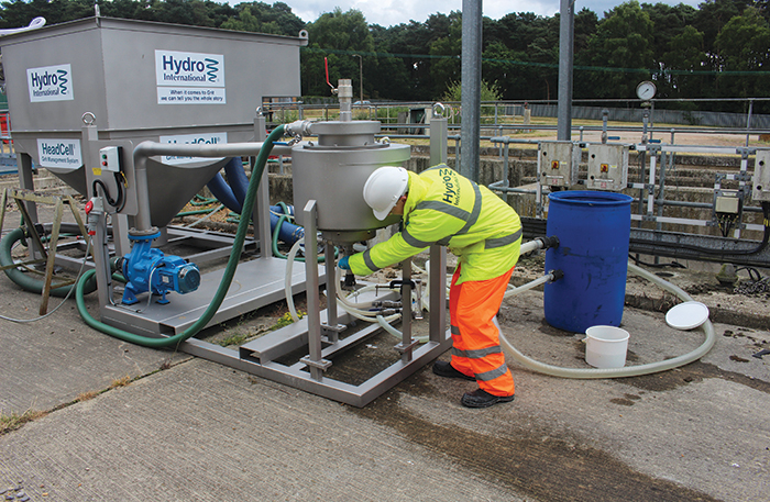 Wastewater grit sampling underway with Hydro's HeadCell UK pilot unit 1