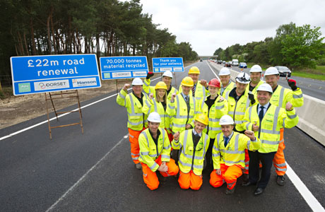 Dorset road upgrade scores on waste reduction