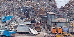 Hong Kong scrapyard: A region where much of Dell's waste pitches up.