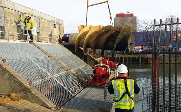 Flood defence pump station at  Grimsby Docks gets an overhaul