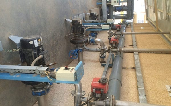 Poultry wastewater aerated in Saudi Arabia