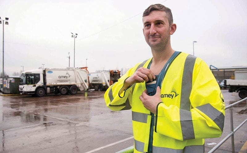 Waste collection workers trial wearable technology at Wolverhampton site