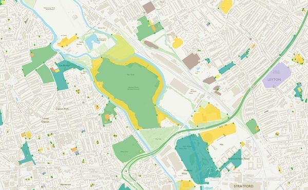 Ordnance Survey releases open dataset and free map of Britain's Greenspaces