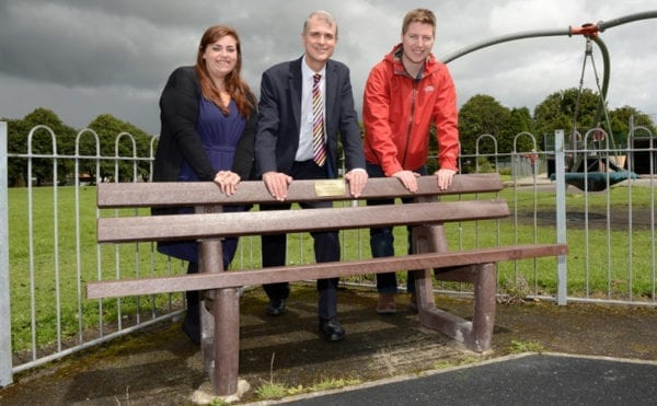 Turning bottles into benches in Cote Heath, Buxton
