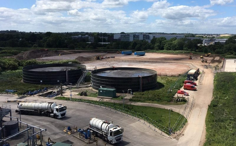 Work underway on Severn Trent's new £20m food waste plant in Spondon