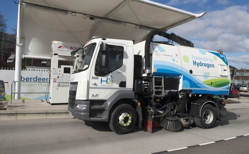 World's first hydrogen dual fuel road sweeper delivered to Aberdeen City Council