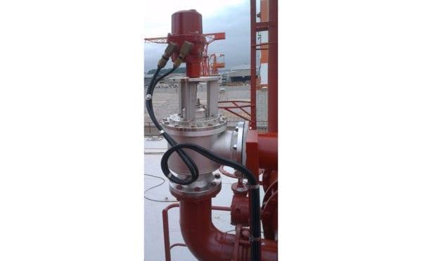Valve actuation at the centre of advanced oil tanker VOC emission control system