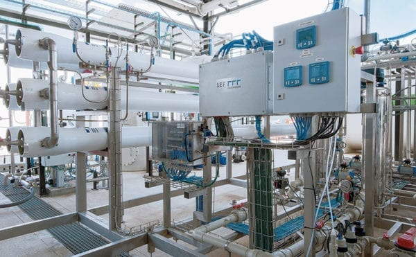 Simplified process control for reverse osmosis plant
