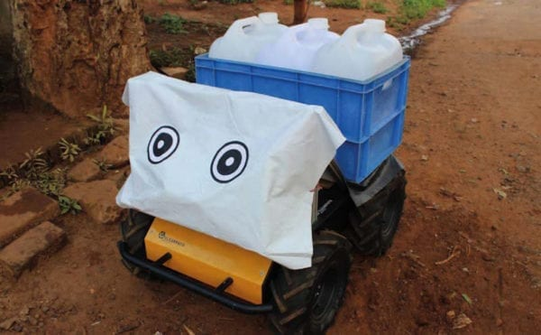 Water-carrying robot tested in India