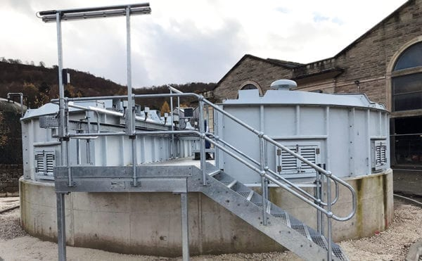 Bespoke sludge thickener blends into background and controls odour