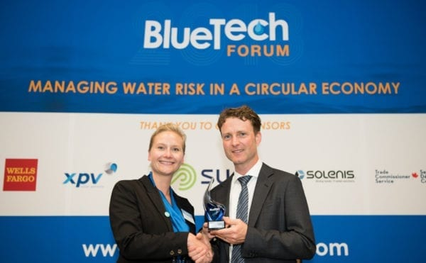 Water innovators recognised at BlueTech event in Vancouver