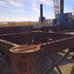 Densostrip seals concrete units at Hinckley North Berth.