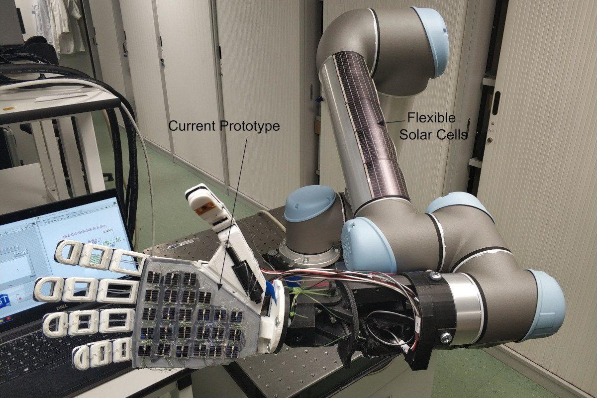 University of Glasgow - solar cell skin for robots