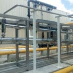 Biogas piping
