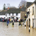 Malmsbury, Wiltshire, during the 2012 flooding: The Climate Suite products are intended to provide insight into future flood hazards.