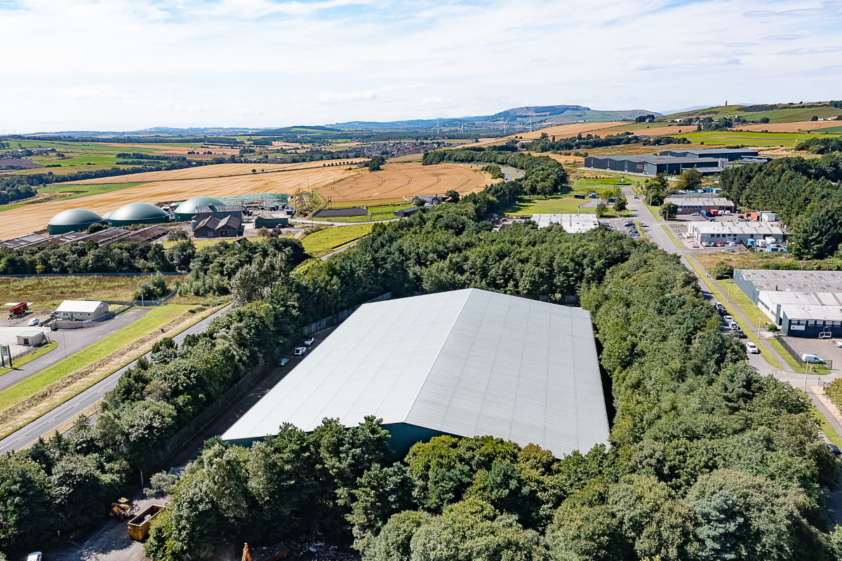Yes Recycling facility - aerial shot