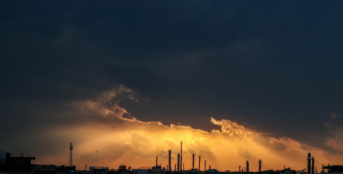 Industry and dramatic sky